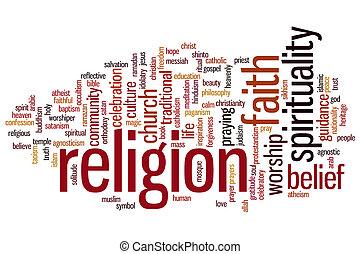 religión, palabra, nube