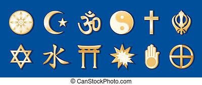 Religiones mundiales, antecedentes azules