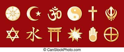 Religiones mundiales, antecedentes rojos