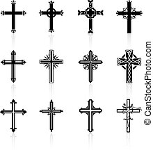 Religiosa colección de diseño cruzado