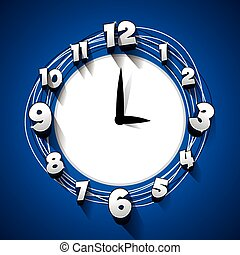 Reloj abstracto creativo