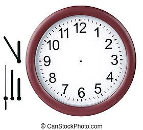 reloj, aislado, redondo
