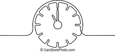 Reloj con icono de flechas sobre fondo blanco