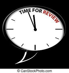 """Reloj de burbujas """"Hora de revisión"""""""