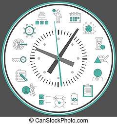 Reloj de gestión del tiempo