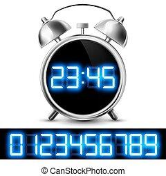 Reloj de mesa con pantalla digital y un conjunto de números
