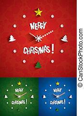 Reloj de Navidad abstracto creativo