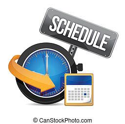 reloj, horario, icono