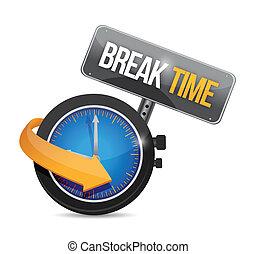 reloj, ilustración, señal, interrupción, diseño, tiempo