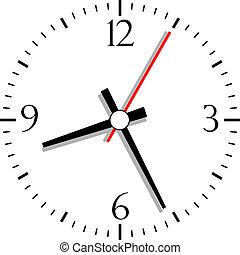 Reloj numerado, ilustración vectora