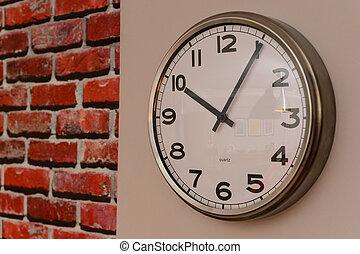 reloj pared, cicatrizarse, vista