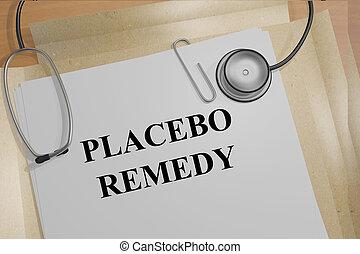 remedio, concepto, placebo