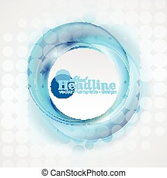 Remolino azul abstracto círculos de fondo