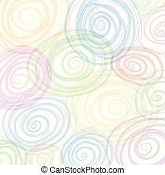 Remolino colorido, vector de fondo