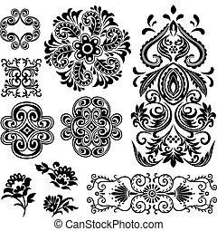 remolino, diseño floral, imaginación, patrón