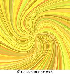 Remolino geométrico fondo - ilustración vector de rayos rotados en tonos coloridos