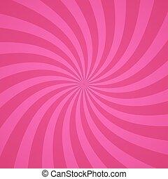 Remolinos de piel rosa radial. Ilustración de vectores