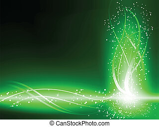 remolinos, fondo verde, estrellas