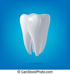 render., dental, salud, 3d, diente, vector, diseño, element., concepto, medicina