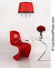 render, furniture., loft., moderno, interior., minimalism, silla, 3d
