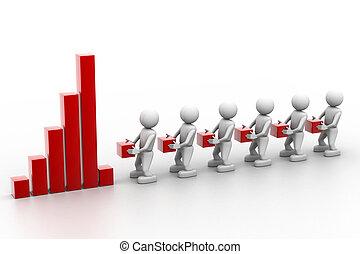 rendimiento, trabajo en equipo, empresa / negocio