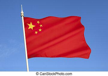 república, pueblos, bandera de china