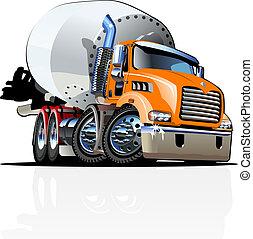 repaint, opción, batidora, uno, clic, camión, caricatura