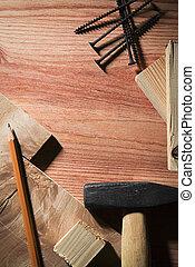 reparación, materiales de construcción, o, herramientas
