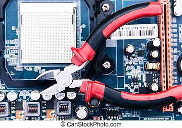 Reparación y mantenimiento de la computadora