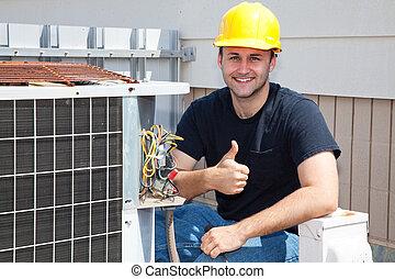 reparador, condioner, thumbsup, aire