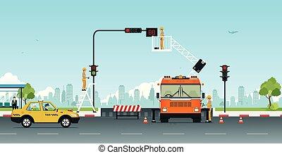 Reparar semáforos