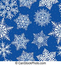 Repetición de copos de nieve