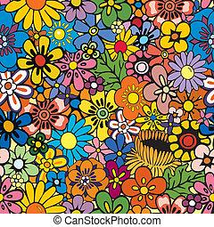 Repetición de fondo floral
