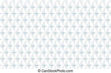 Repetición de fondo geométrico blanco abstracto. Vector de ilustración
