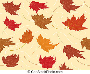 Repetición de hojas de otoño