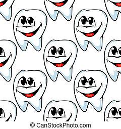 Repetir patrón de dientes sanos y felices