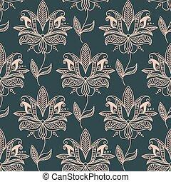 Repetir patrón de fondo floral sin costura