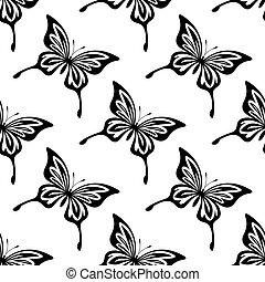 Repetir patrón sin costura de mariposas