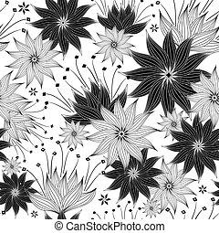 Repitiendo el patrón floral negro