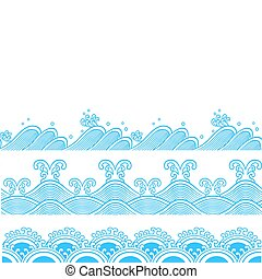 Repito diseño de ondas marinas