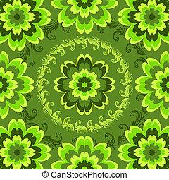 Repito el patrón floral verde