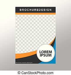 Reporte anual de diseño de portada, diseño de diseño de diseño de vectores para folletos de negocios