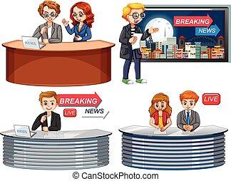 Reportero de noticias