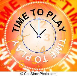 representa, recreación, juego, alegre, tiempo, juego