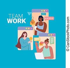 representación, trabajo equipo