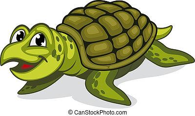 Reptil de tortuga verde