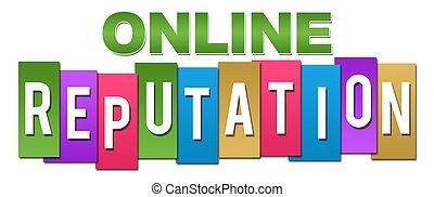Reputación en línea de color profesional