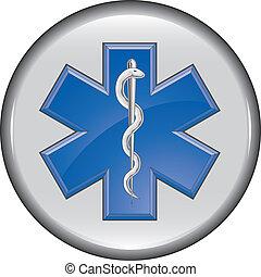 Rescate el botón médico de la ambulancia
