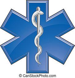 Rescate el logotipo médico