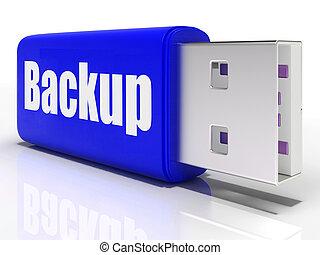 reserva, archiving, almacenamiento, unidad, pluma, organización, datos, o, exposiciones